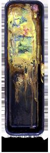 melting world abstract painting oils on enamel steel pan