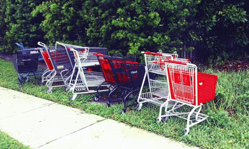 trolley shopping cart art park