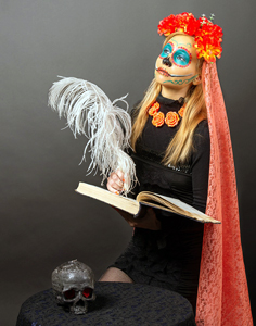 Female woman witch doctor book editor